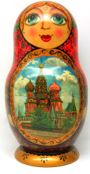 "Super Matryoshka 30-piece Russian Art ""Moscow"""
