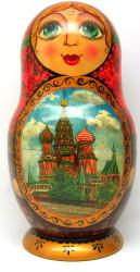 "Super Matryoshka 30-piece Russian Art ""Moscow"""