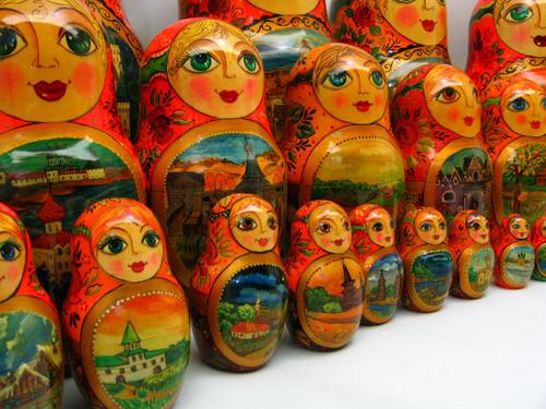 "Super 30-piece Russian Art Matryoshka ""Moscow"""