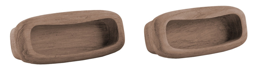 Teak Rectangular Drawer Pull, 3-1/4""