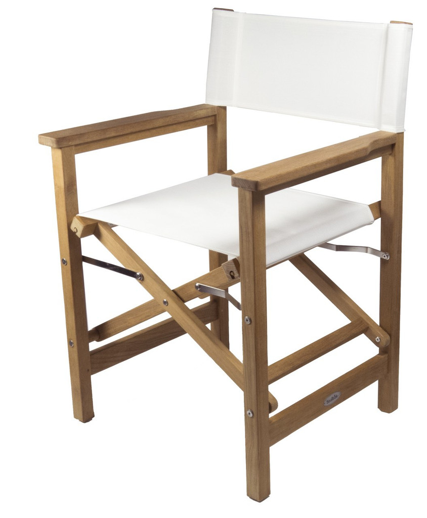 Teak Director's Chair (Available in Blue or White DURASLING Fabric)