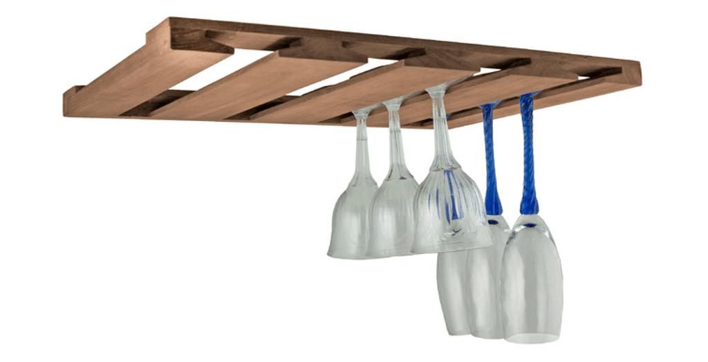 SeaTeak Overhead Wineglass Rack