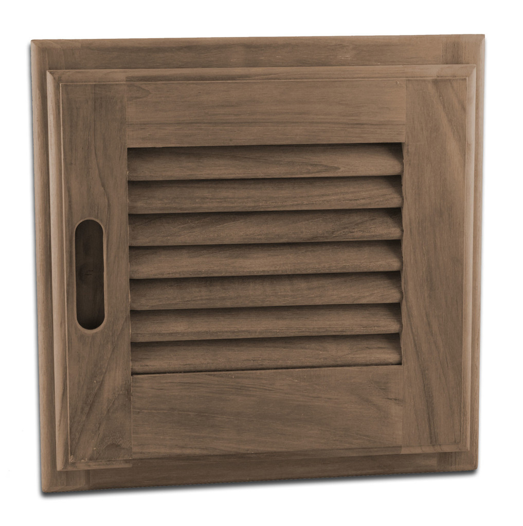 "Louvered Door + Frame, Square, 12"" x 12"""