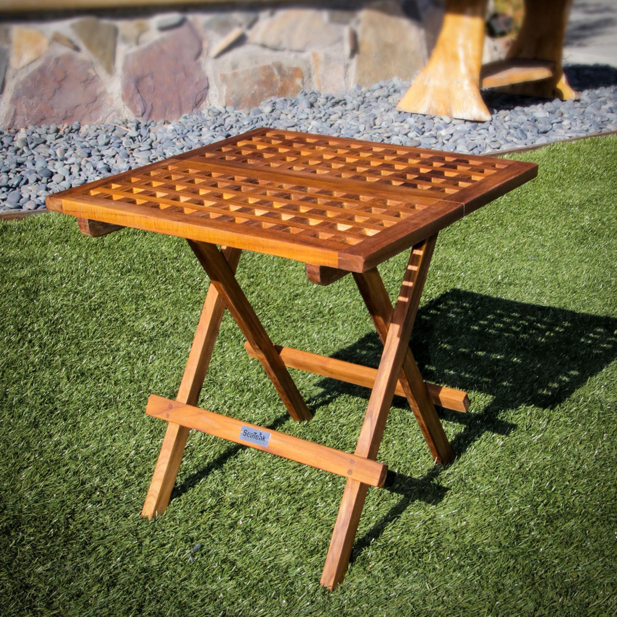 ... Teak Folding Deck Table ...
