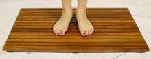 SeaTeak Teak Shower Mat, Oiled Finish