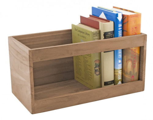 Teak Hardcover Book Rack