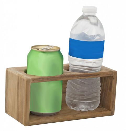 Solid 100% Teak Drink Rack; Two