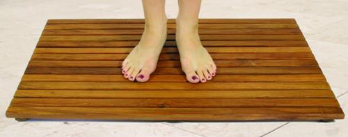 seateak teak shower mat oiled finish - Teak Shower Mat