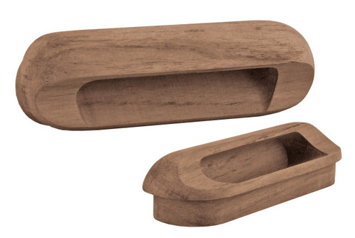 Teak Oblong Drawer Pull