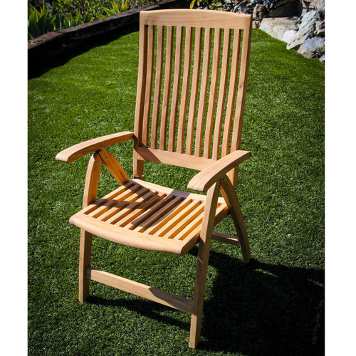 Weatherly Folding 6-Position Teak Deck Armchair