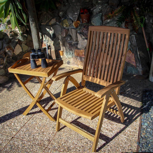 SEATEAK Weatherly Teak Folding Deck Chair