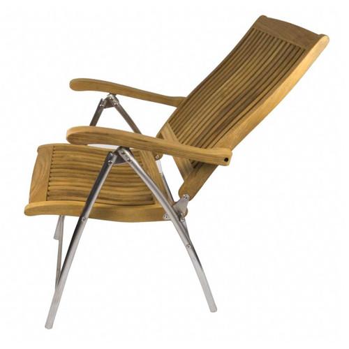 Seateak Teak Windrift Folding 6position Deck Chair