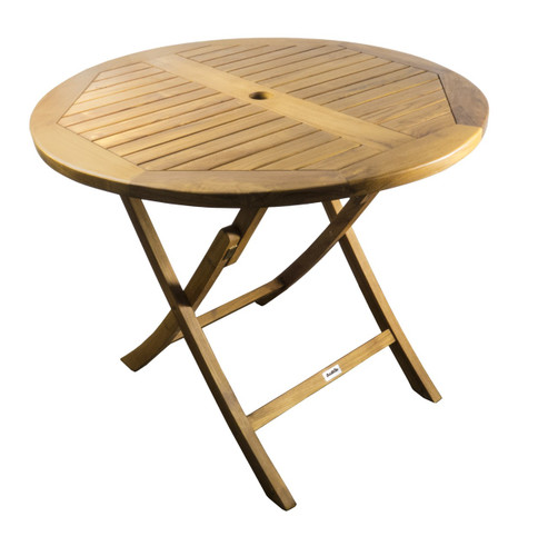 Teak Gatsby Parabola Folding Table