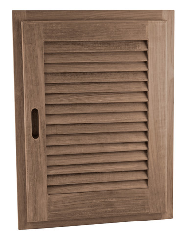 "Louvered Door + Frame,  Oblong 15"" x 20"""