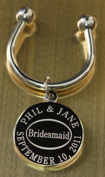 Bridesmaid keychain.