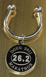 Marathon Engraved Keychains