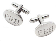Engraved Oval Cufflinks