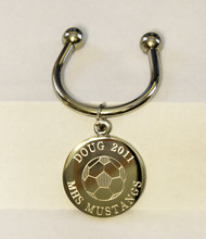 Soccer Engraved Keychains