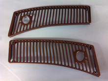 1963-1967; C2; Wiper Grilles; Black; PAIR