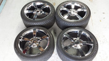 2005-2013; C6; Chrome Wheels, Goodyear Run Flat Tires; SET