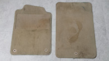 2005-2013; C6; Floor Mat Carpet; PAIR; CASHMERE