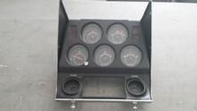 1972-1976; C3; 5 Gauge Dash Cluster and Bezel; with Clock, Elec Oil Pressure