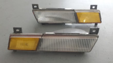 1984-1990; C4; Front Side Marker Light; PAIR