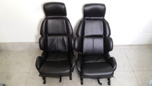 1984-1996; C4; Vinyl Seats with Manual Tracks; PAIR; BLACK