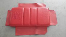 1984-1989; C4; Vinyl Center Console Door Arm Rest Cover; RED