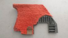 1978-1982; C3; Front Lower Kick Panel Speaker Grille: RH Passenger; RED Carpet