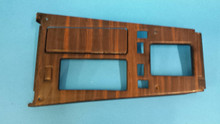 1984-1988; C4; Center Console Shift Trim Plate with Wood Grain; 4 + 3