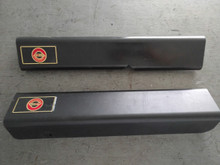 1984-1987; C4; Door Sill Cover Protector; BLACK; PAIR