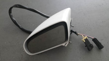 1986-1996; C4; Convertible; Power Side View Door Mirror; LH Driver; WHITE