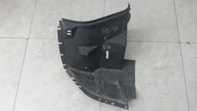 1988-1990 C4; Front Fender Front Inner Skirt Liner; RH Passenger