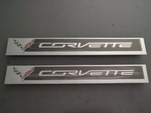 2014-Current; C7; Door Sill Trim Cover Protector Plate; PAIR