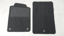 2005-2013; C6; Floor Mat Carpet; PAIR; EBONY