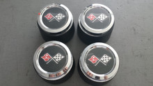 1973-1979; C3; Center Wheel Cap Emblem; Set of 4