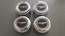 1980-1981; C3; Center Wheel Cap Emblem; Set of 4