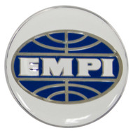 Empi 9666 Wheel Cap/Horn Button Sticker, Empi Logo White/Blue 62mm