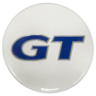 Empi 9671 Wheel Cap/Horn Button Sticker, GT Logo White/Blue 43mm