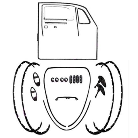 Body Rubber Seal Kit 1967 Classic Volkswagen Beetle-Vw Bug