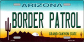 Border Patrol Arizona State Background Novelty Metal License Plate