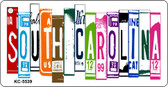 South Carolina License Plate Art Metal Novelty Mini License Plate Key Chain