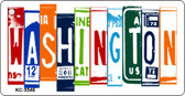 Washington License Plate Art Metal Novelty Mini License Plate Key Chain