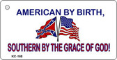 American By Birth Novelty Key Chain