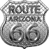 Route 66 Diamond Arizona Metal Novelty Highway Shield
