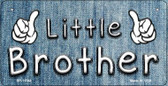 Little Brother Novelty Metal Bicycle License Plate