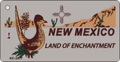 New Mexico Gray Novelty Key Chain