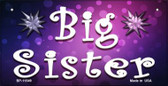 Big Sister Novelty Metal Bicycle License Plate