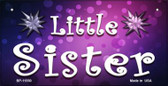 Little Sister Novelty Metal Bicycle License Plate
